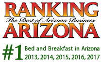 Rated #1 bed and breakfast in Arizona by Ranking Arizona