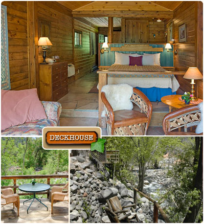 The Deckhouse   Briar Patch Inn   Sedona Arizona   Cozy Cabins In Oak Creek  Canyon